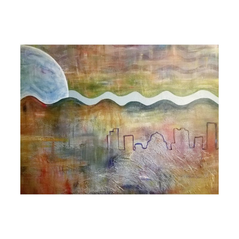 Moon City Scape by emilyhanigan's Artist Shop