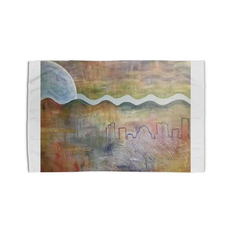 Moon City Scape Home Rug by emilyhanigan's Artist Shop