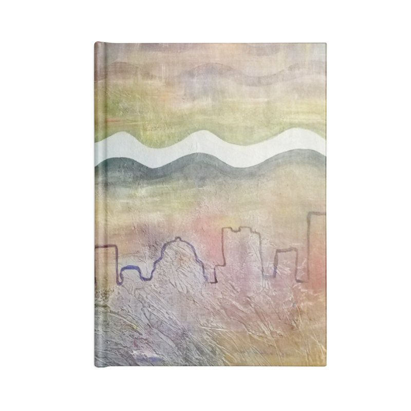 Moon City Scape Accessories Notebook by emilyhanigan's Artist Shop