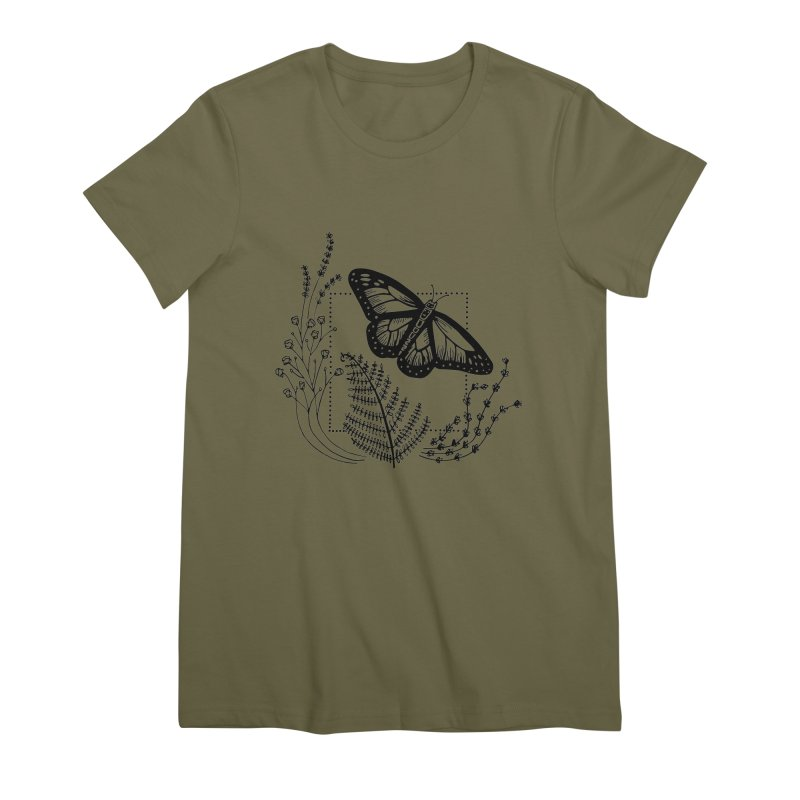 field and flutter Women's Premium T-Shirt by emily prentice