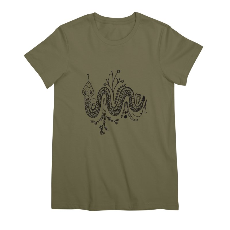nervous system Women's Premium T-Shirt by emily prentice