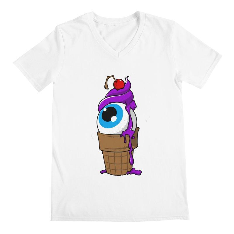 Eyescream Men's V-Neck by emodistcreates's Artist Shop