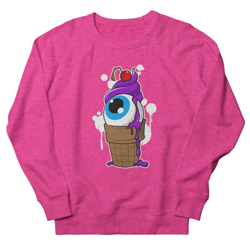 Eyescream Women's French Terry Sweatshirt by emodistcreates's Artist Shop