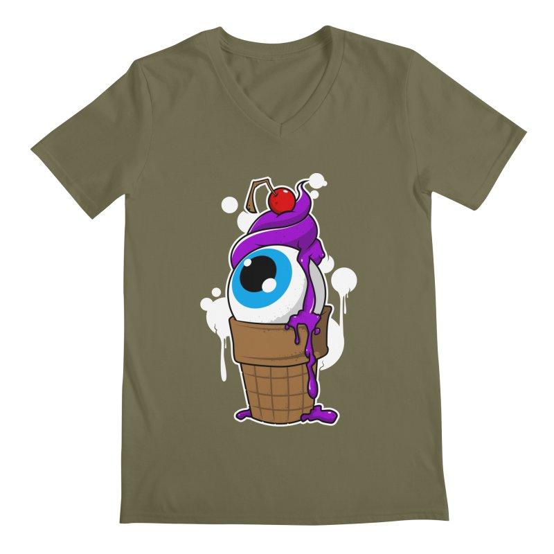 Eyescream Men's Regular V-Neck by emodistcreates's Artist Shop