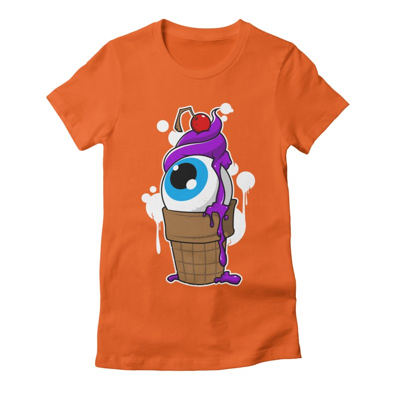 Eyescream Women's Fitted T-Shirt by emodistcreates's Artist Shop