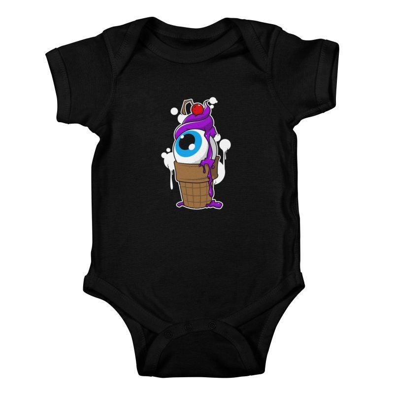 Eyescream Kids Baby Bodysuit by emodistcreates's Artist Shop
