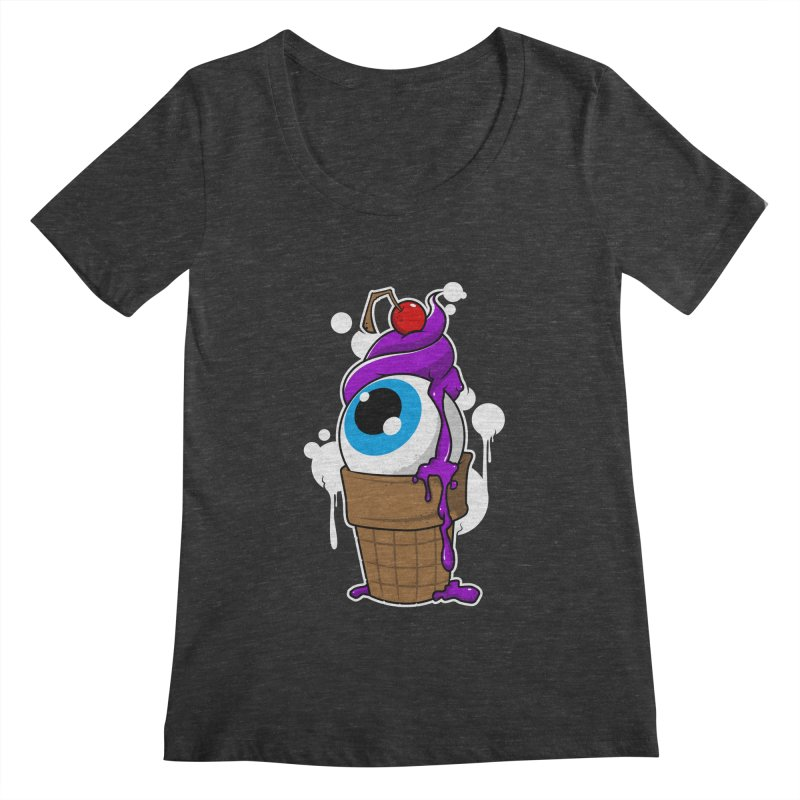 Eyescream Women's Scoopneck by emodistcreates's Artist Shop