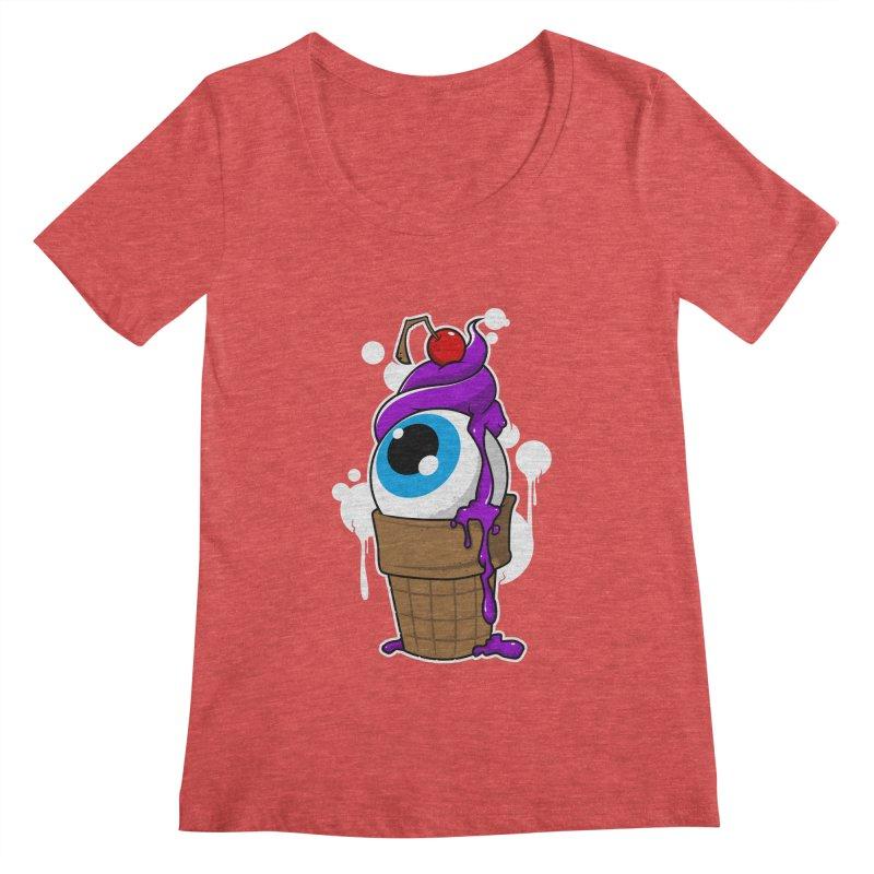 Eyescream Women's Regular Scoop Neck by emodistcreates's Artist Shop