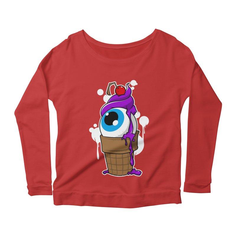 Eyescream Women's Longsleeve Scoopneck  by emodistcreates's Artist Shop