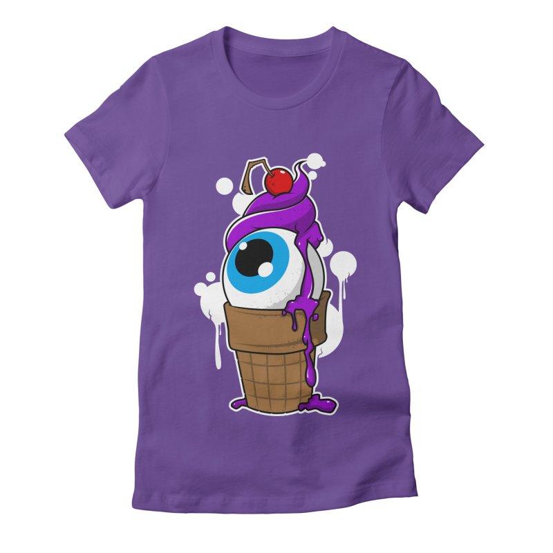 Eyescream Women's Fitted T-Shirt by emodistcreates's Artist Shop