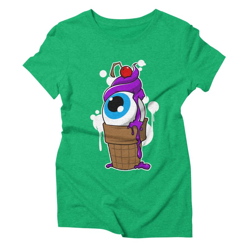 Eyescream Women's Triblend T-shirt by emodistcreates's Artist Shop