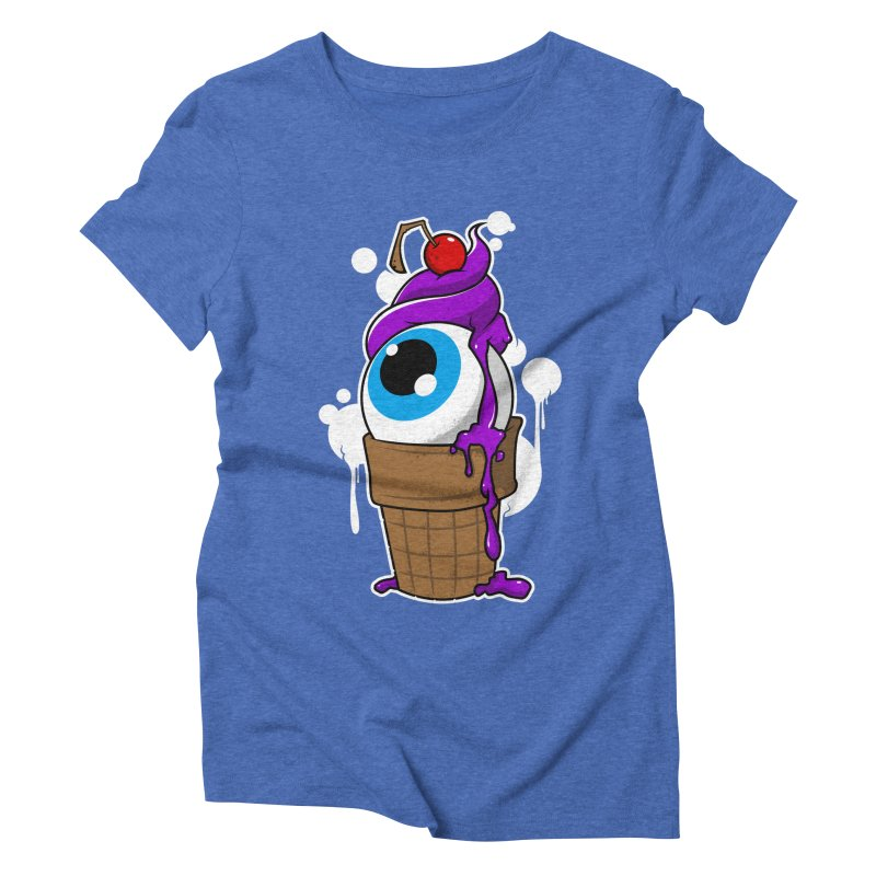 Eyescream Women's Triblend T-Shirt by emodistcreates's Artist Shop