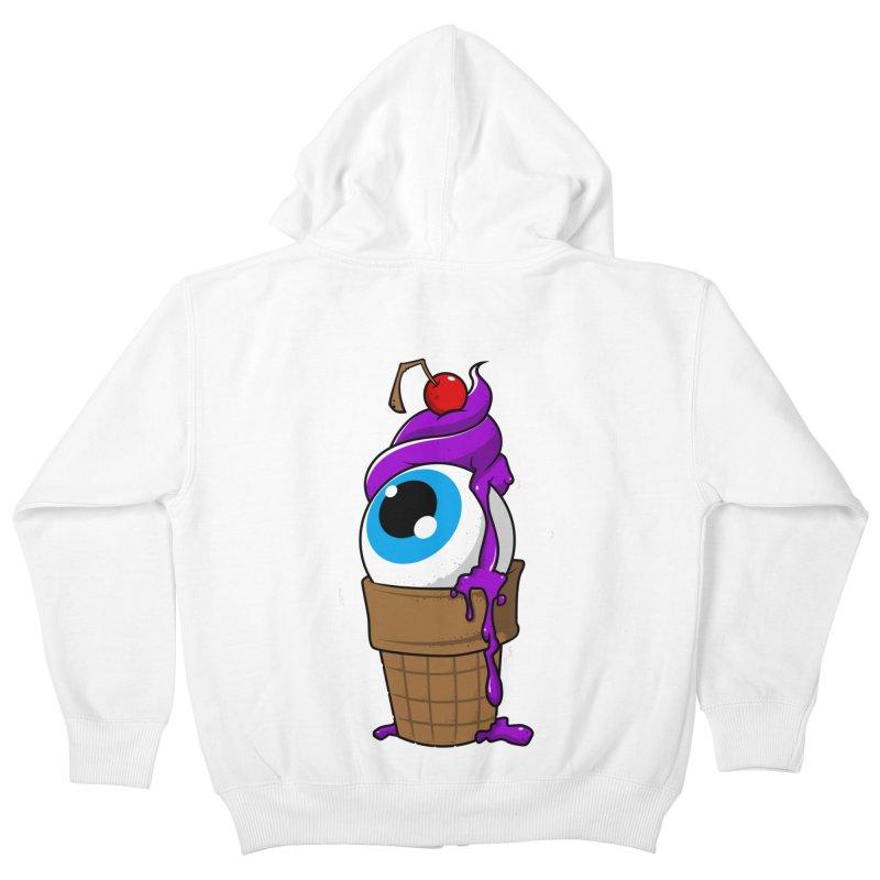 Eyescream Kids Zip-Up Hoody by emodistcreates's Artist Shop