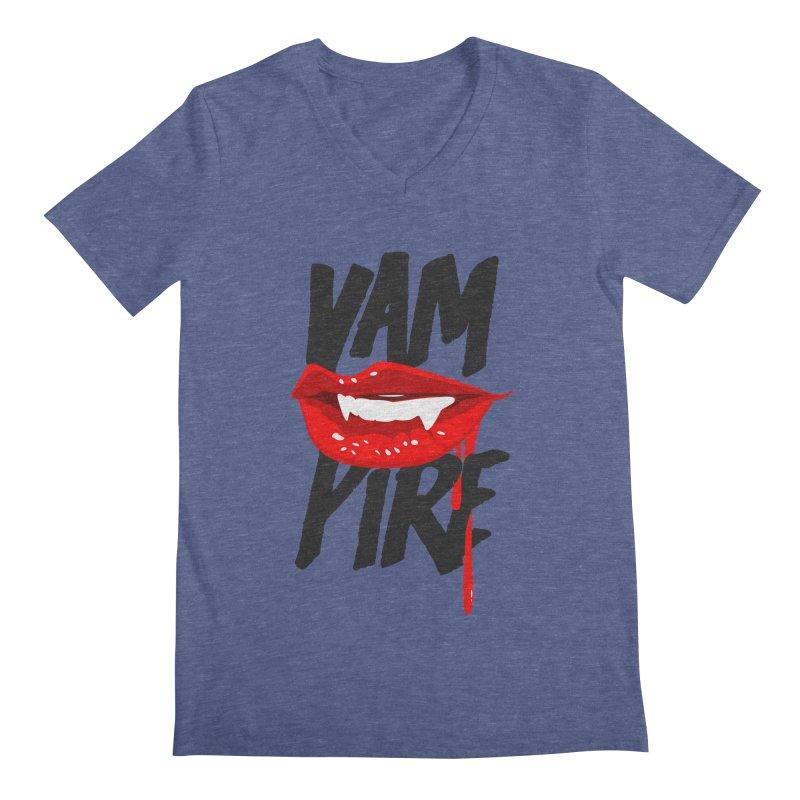 Vampire Men's Regular V-Neck by emodistcreates's Artist Shop