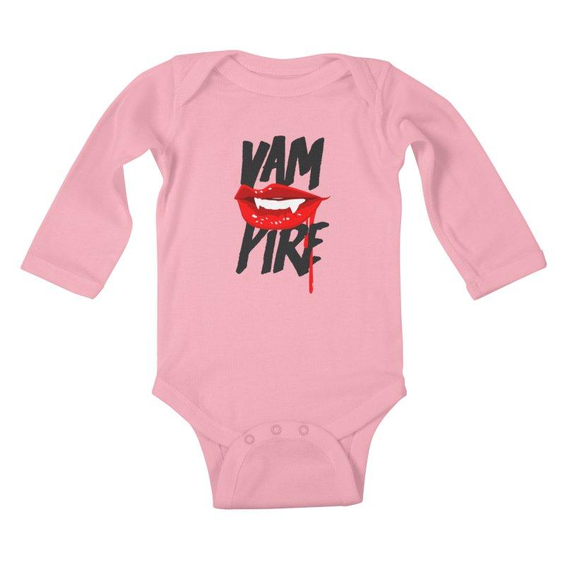 Vampire Kids Baby Longsleeve Bodysuit by emodistcreates's Artist Shop