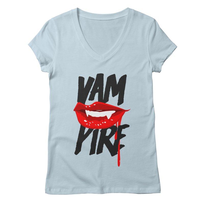 Vampire Women's Regular V-Neck by emodistcreates's Artist Shop