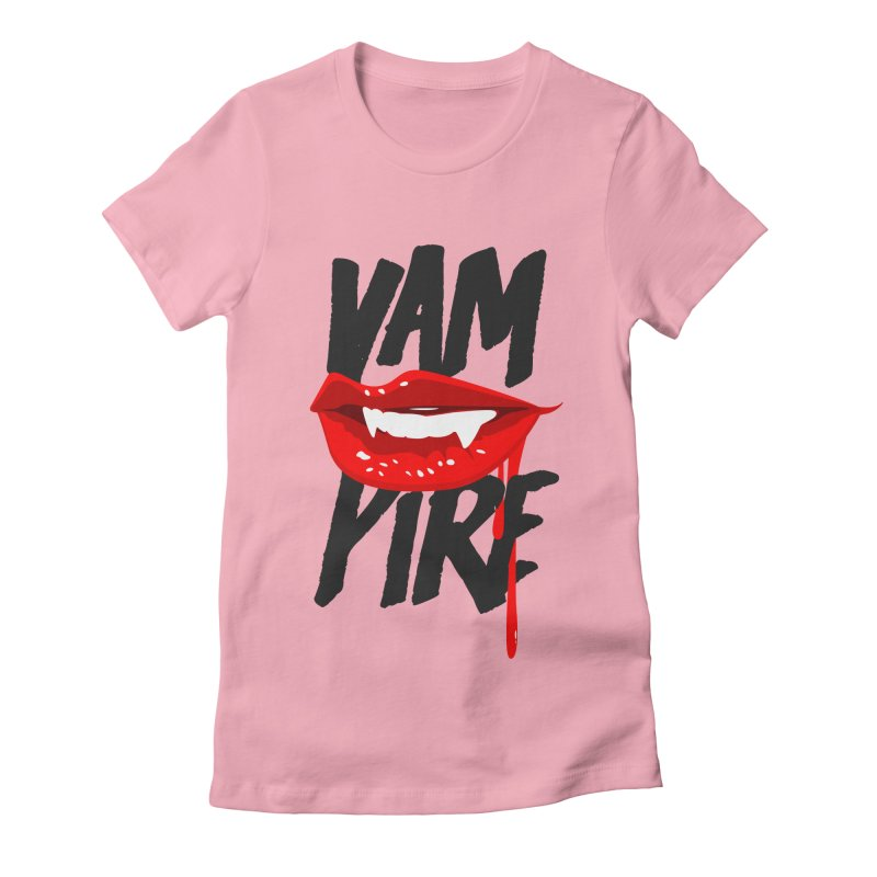 Vampire Women's Fitted T-Shirt by emodistcreates's Artist Shop