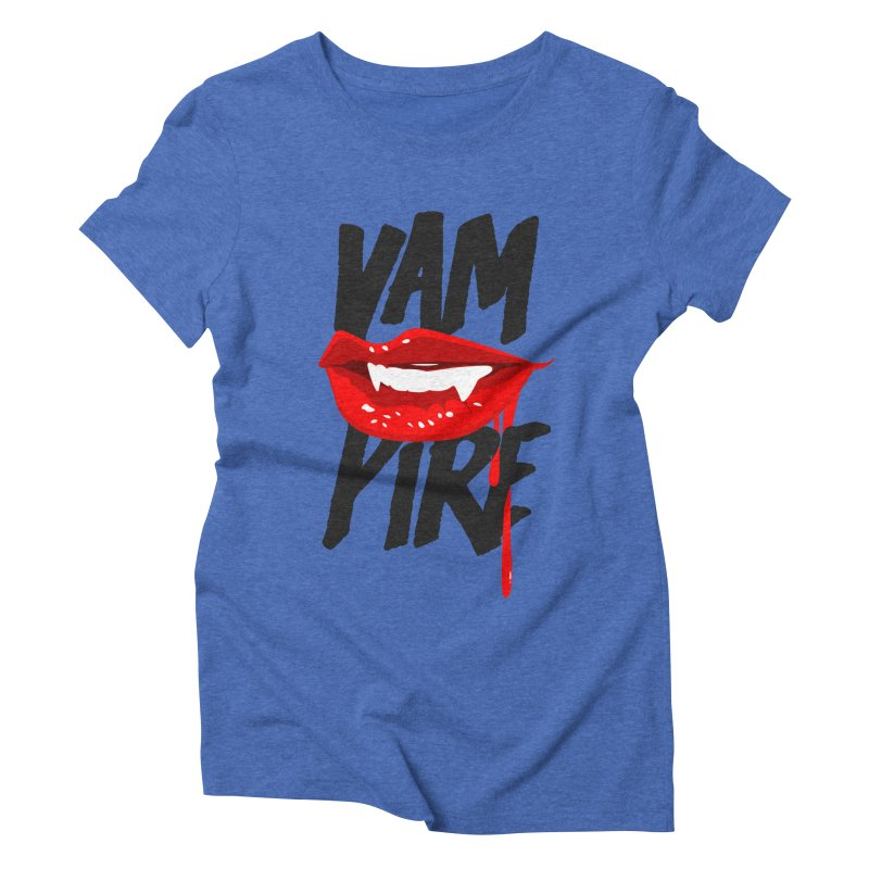 Vampire Women's Triblend T-shirt by emodistcreates's Artist Shop
