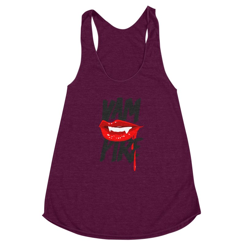 Vampire Women's Racerback Triblend Tank by emodistcreates's Artist Shop
