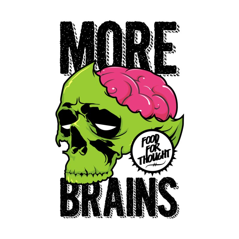 More Brains Men's V-Neck by emodistcreates's Artist Shop