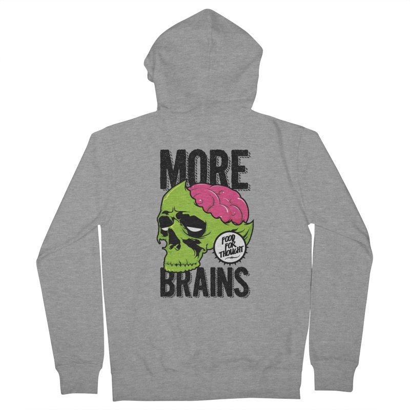 More Brains Men's Zip-Up Hoody by emodistcreates's Artist Shop
