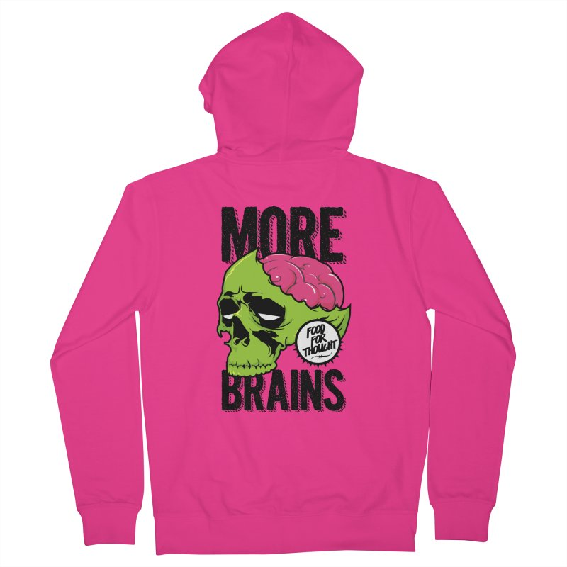 More Brains Men's French Terry Zip-Up Hoody by emodistcreates's Artist Shop
