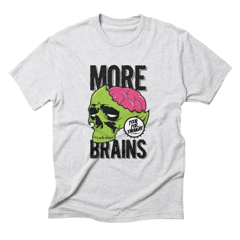 More Brains Men's Triblend T-Shirt by emodistcreates's Artist Shop