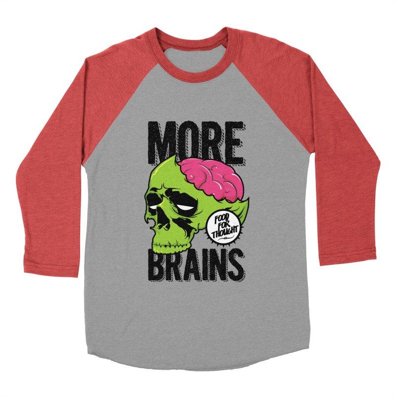 More Brains Women's Baseball Triblend T-Shirt by emodistcreates's Artist Shop