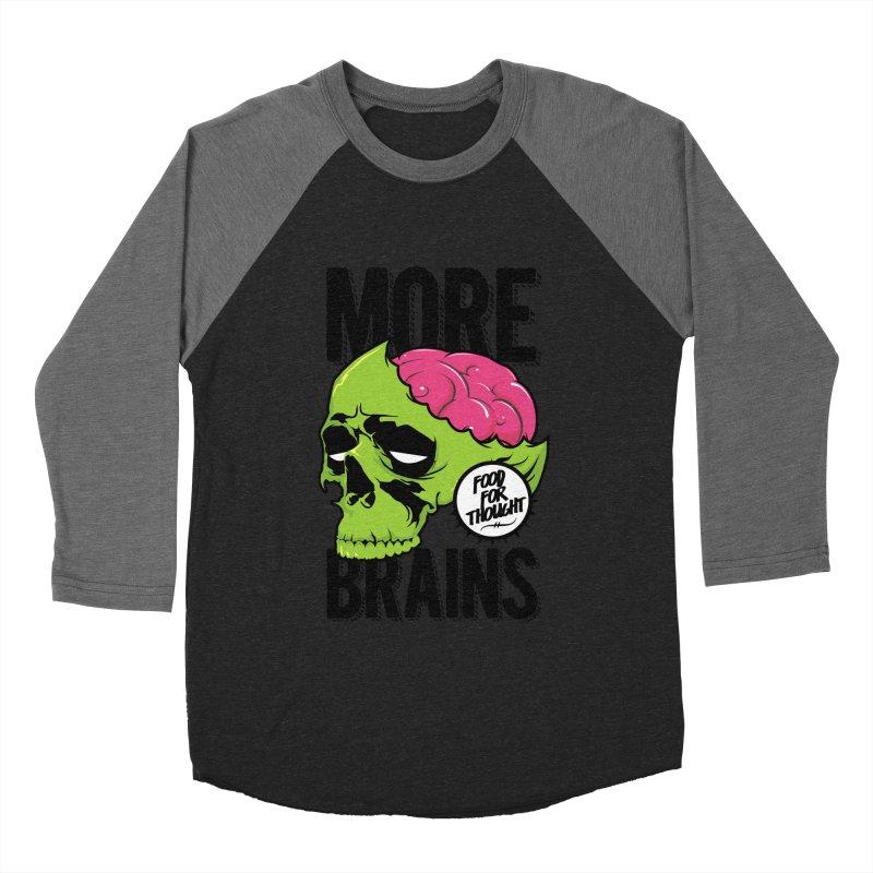 More Brains Men's Baseball Triblend T-Shirt by emodistcreates's Artist Shop