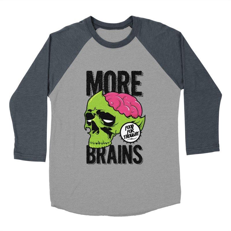 More Brains Men's Baseball Triblend Longsleeve T-Shirt by emodistcreates's Artist Shop