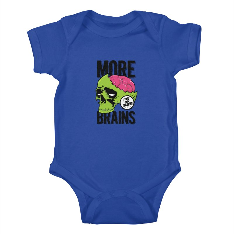 More Brains Kids Baby Bodysuit by emodistcreates's Artist Shop