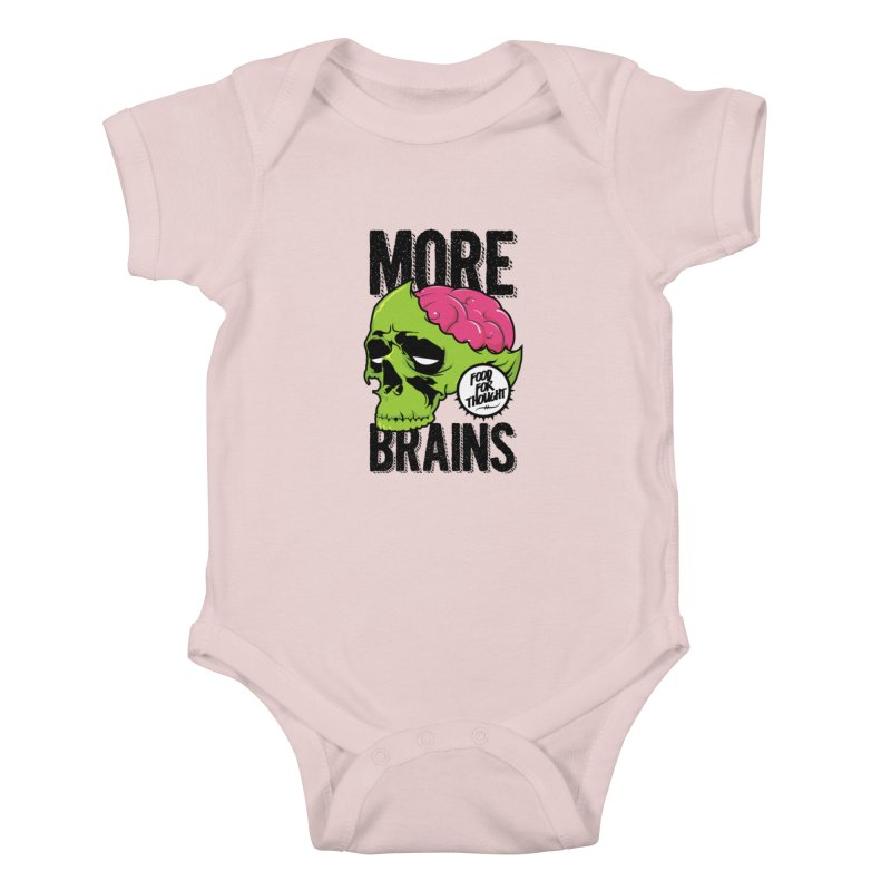 More Brains Kids Baby Bodysuit by emodistcreates's Artist Shop