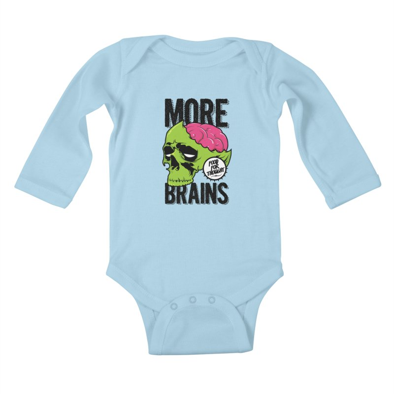 More Brains Kids Baby Longsleeve Bodysuit by emodistcreates's Artist Shop