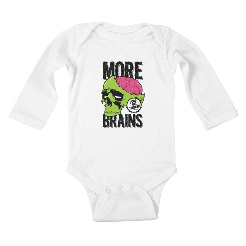 More Brains Kids Baby Longsleeve Bodysuit by emodistcreates's Artist Shop