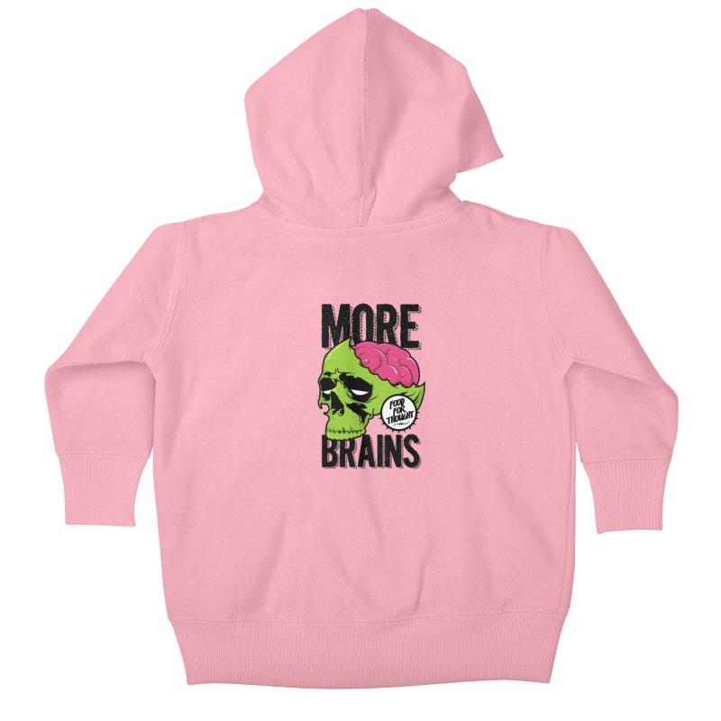 More Brains Kids Baby Zip-Up Hoody by emodistcreates's Artist Shop