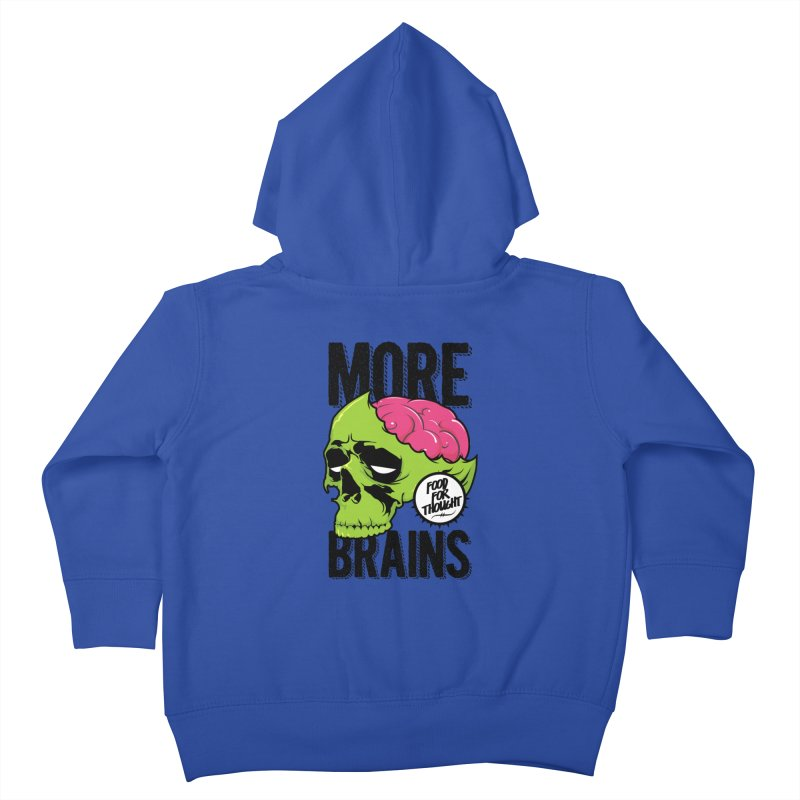 More Brains Kids Toddler Zip-Up Hoody by emodistcreates's Artist Shop