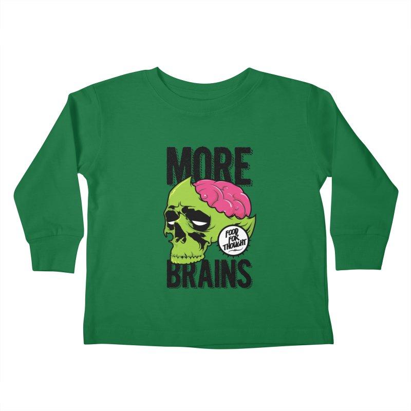 More Brains Kids Toddler Longsleeve T-Shirt by emodistcreates's Artist Shop