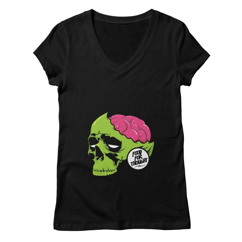 More Brains Women's V-Neck by emodistcreates's Artist Shop