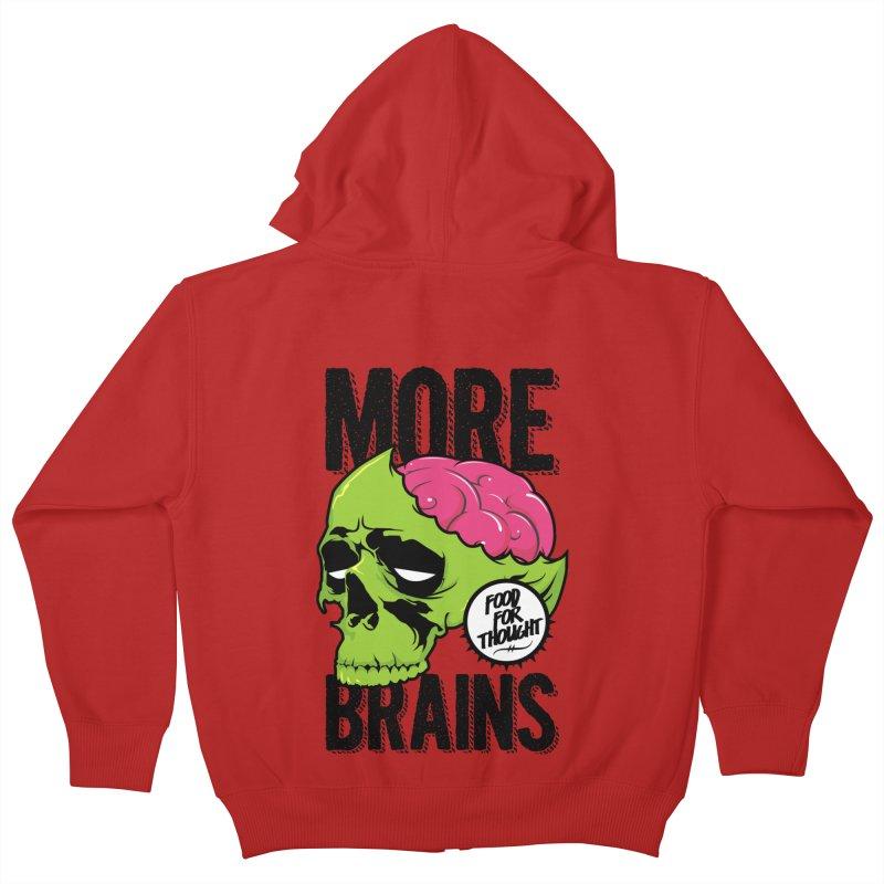 More Brains Kids Zip-Up Hoody by emodistcreates's Artist Shop