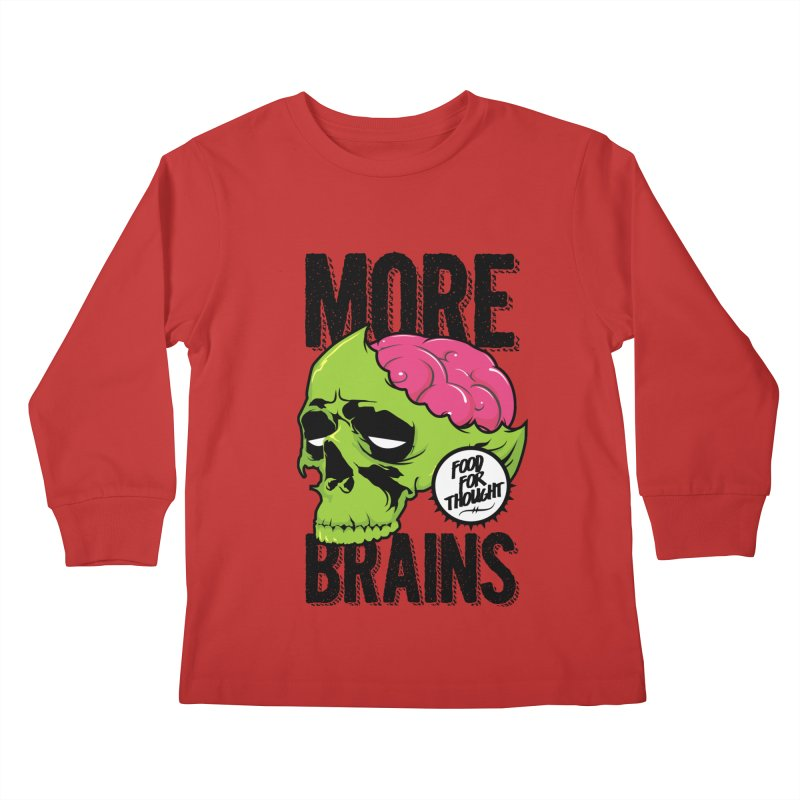 More Brains Kids Longsleeve T-Shirt by emodistcreates's Artist Shop