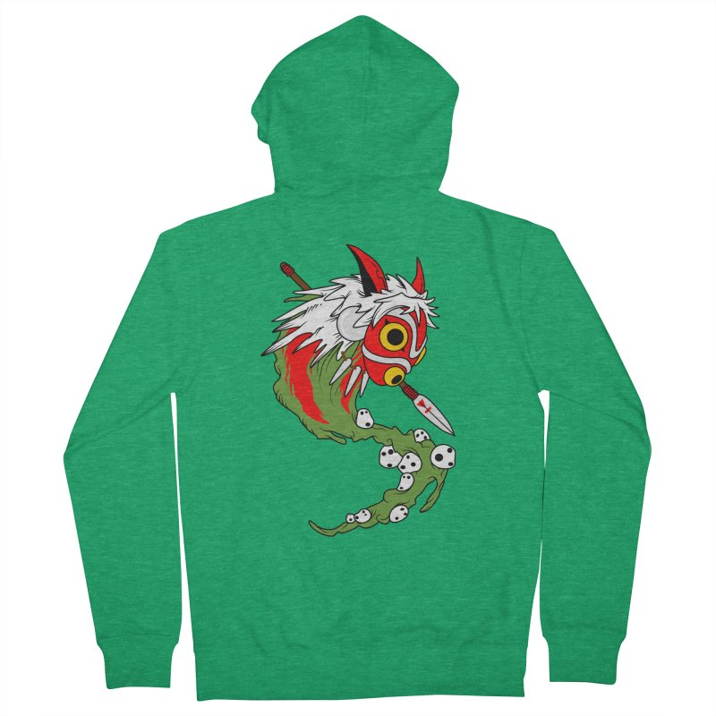 Mononoke Women's French Terry Zip-Up Hoody by emodistcreates's Artist Shop
