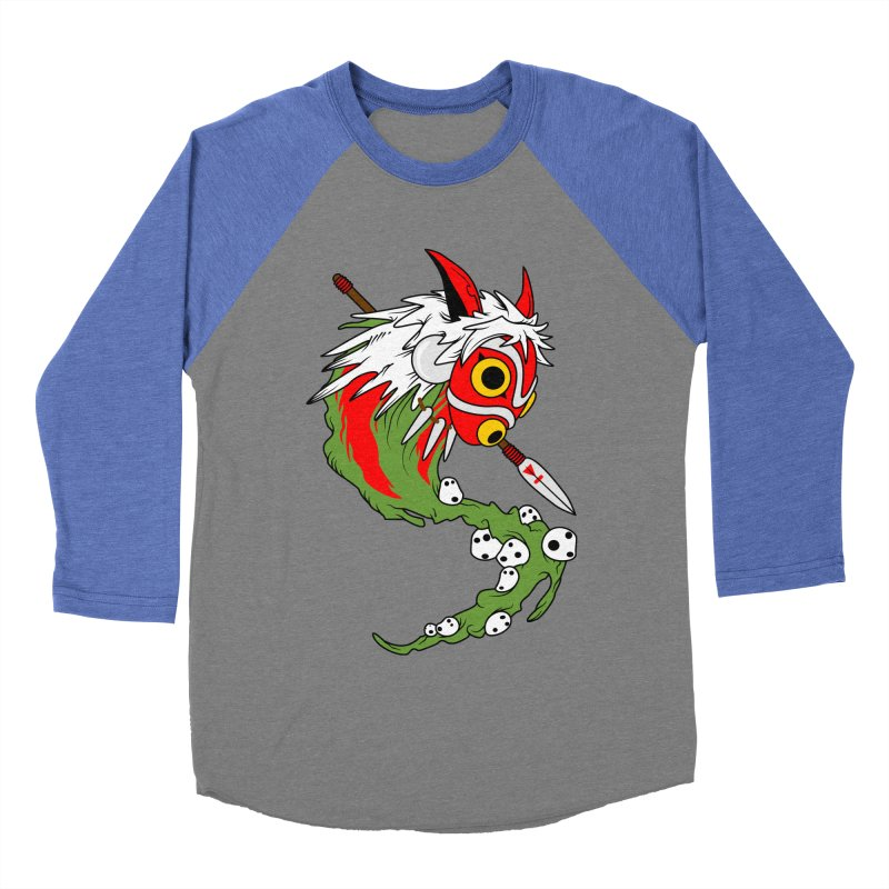 Mononoke Men's Baseball Triblend Longsleeve T-Shirt by emodistcreates's Artist Shop