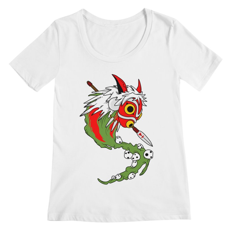 Mononoke Women's Scoopneck by emodistcreates's Artist Shop