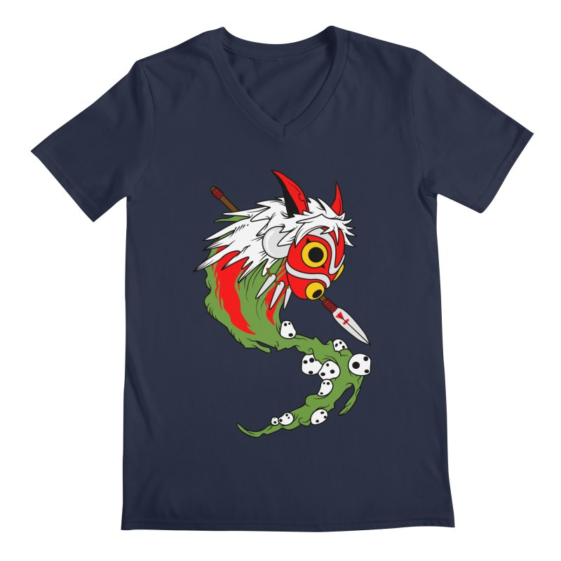 Mononoke Men's V-Neck by emodistcreates's Artist Shop