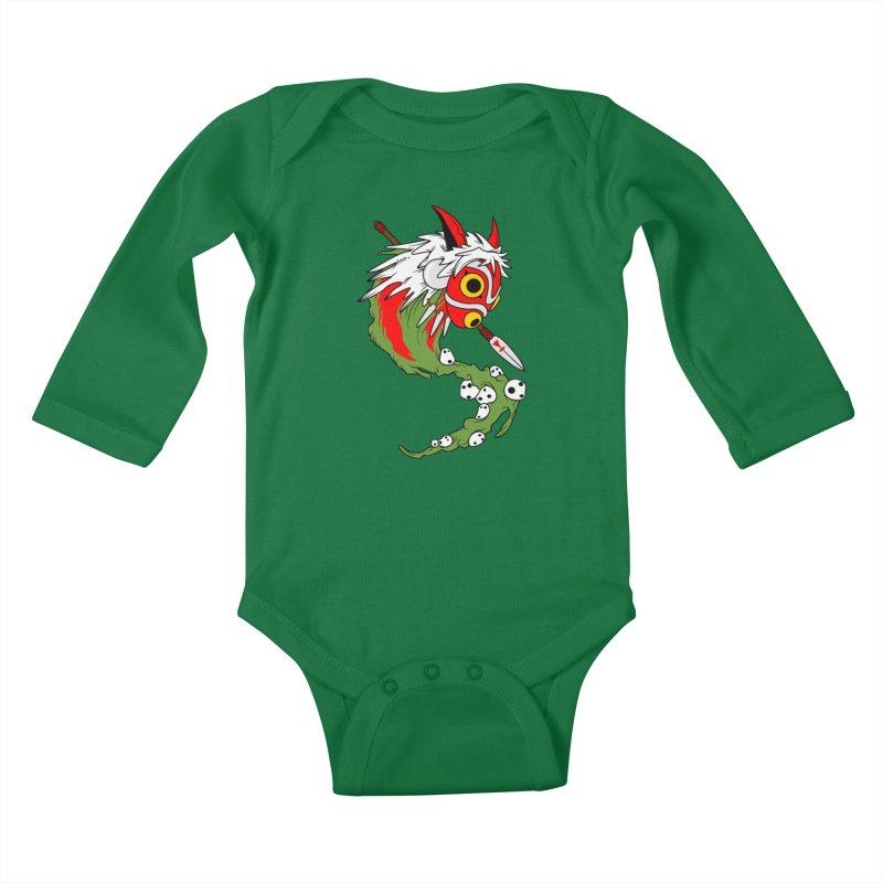 Mononoke Kids Baby Longsleeve Bodysuit by emodistcreates's Artist Shop