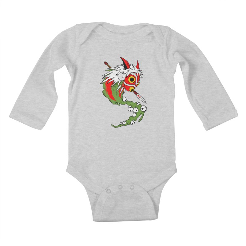 Mononoke Kids Baby Longsleeve Bodysuit by emodistcreates's Artist Shop
