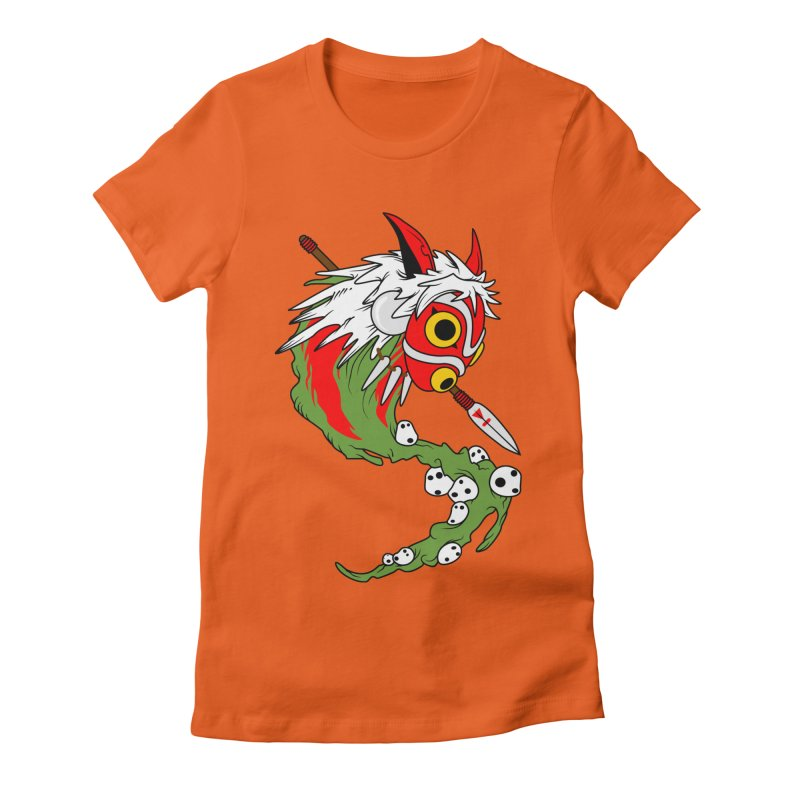 Mononoke Women's Fitted T-Shirt by emodistcreates's Artist Shop