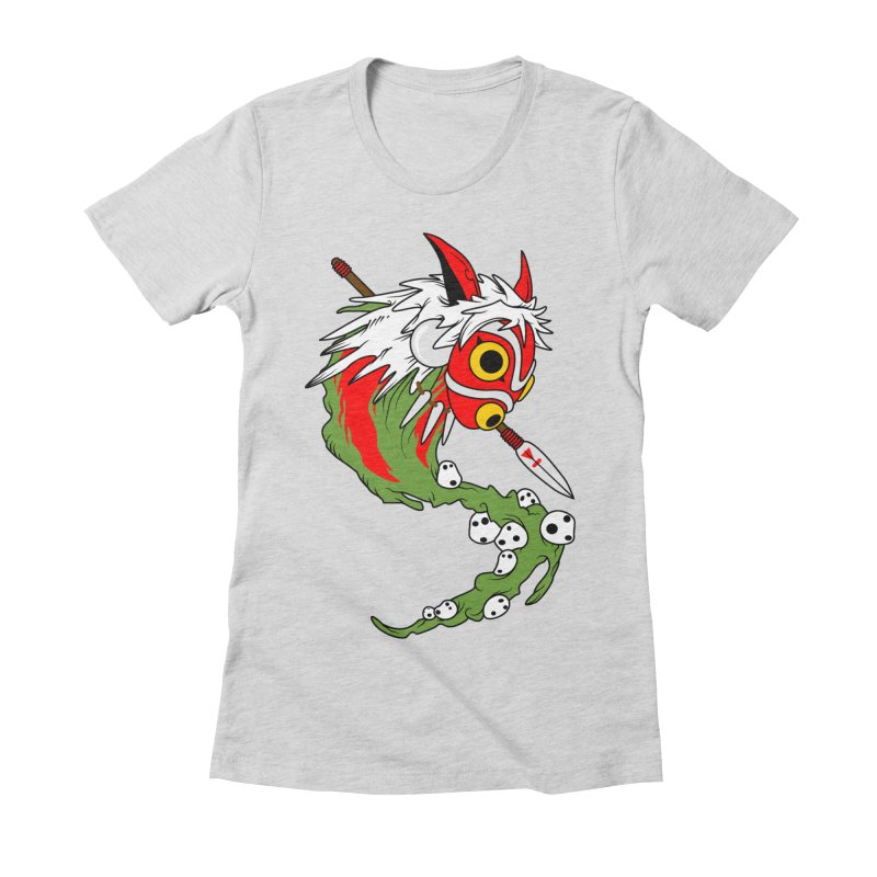 Mononoke Women's Fitted T-Shirt by emodistcreates's Artist Shop