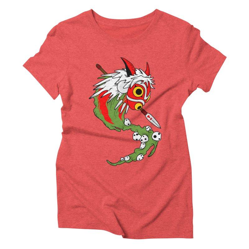 Mononoke Women's Triblend T-shirt by emodistcreates's Artist Shop