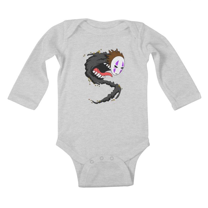 Noface Kids Baby Longsleeve Bodysuit by emodistcreates's Artist Shop